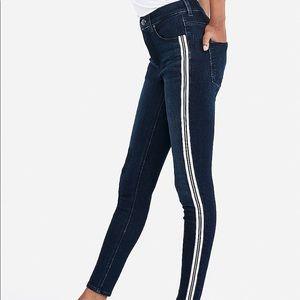 Express High Waisted Ankle Side Stripe Leggings